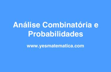 Probabilidades e Análise Combinatória – Passo 1
